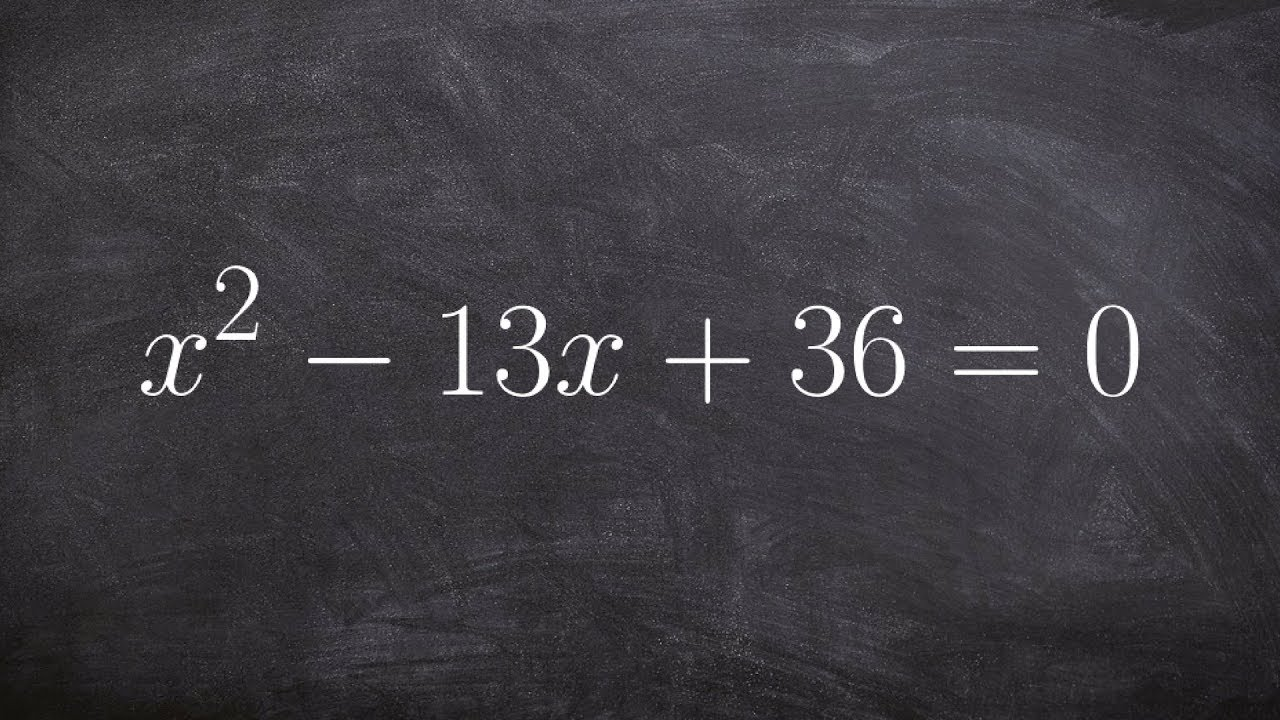 Algebra 2  Solving An Equation Bypleting The Square X^213x+36=0