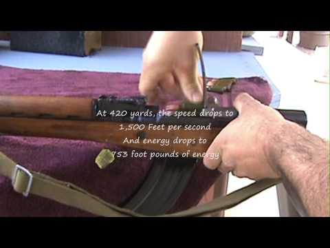 SKS rifle @ 420 yards (Samozaryadnyi Karabin Simonova) rifle