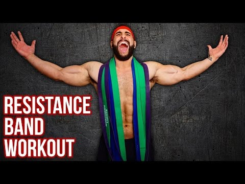 18-Minute Full Body RESISTANCE BAND Workout At Home (Build Muscle/ Burn Fat!!)