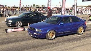 910HP Audi S2 vs 900HP Porsche 991 Turbo S vs 650HP Audi S2