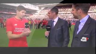 Steven Gerrard speaks after his last match at anfield for Liverpool 2015
