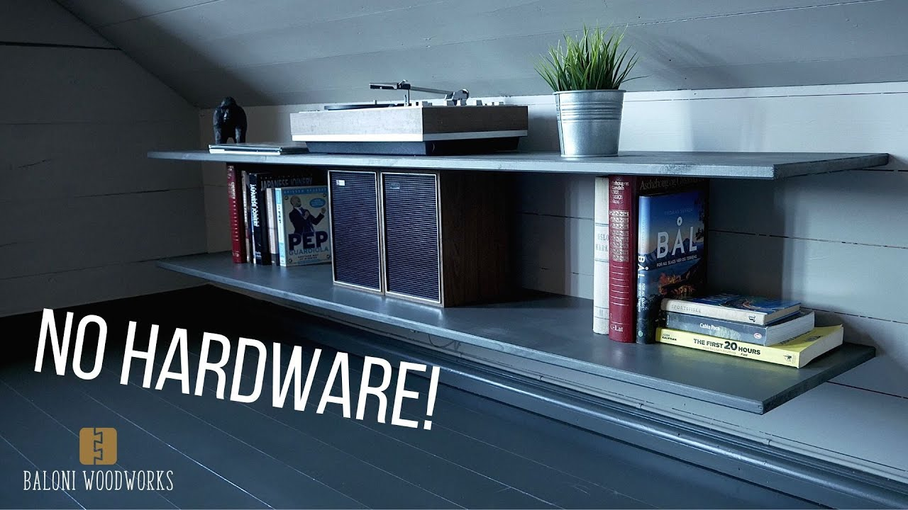 How to make Super Easy Floating Bookshelf! (With No Hardware)