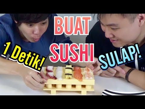 【SULAP】 Buat SUSHI 1 Detik!! with Hans The Jooomers /1秒でお寿司を握る!! 【マジック】