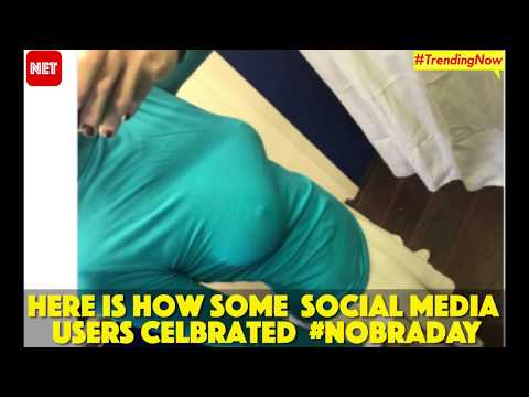 #NoBraDay Watch how some social media users celebrated the Breast Cancer awareness day