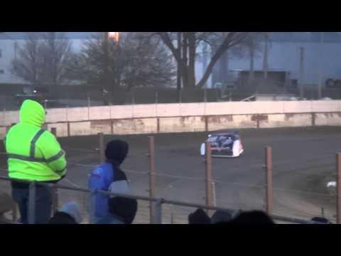 Deery Brothers Late Model heat 4 West Liberty Raceway 4/9/16