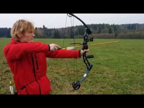 Compound bow shoot, Slow motion  twixtor chaser 2 target