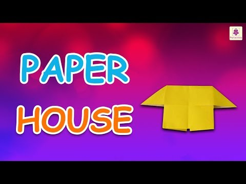 Origami House | DIY Beautiful Paper House For Kids | Periwinkle