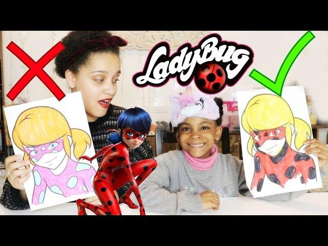 3 MARKER CHALLENGE Miraculous LadyBug ,Adrien ,le papillon , Learn colors