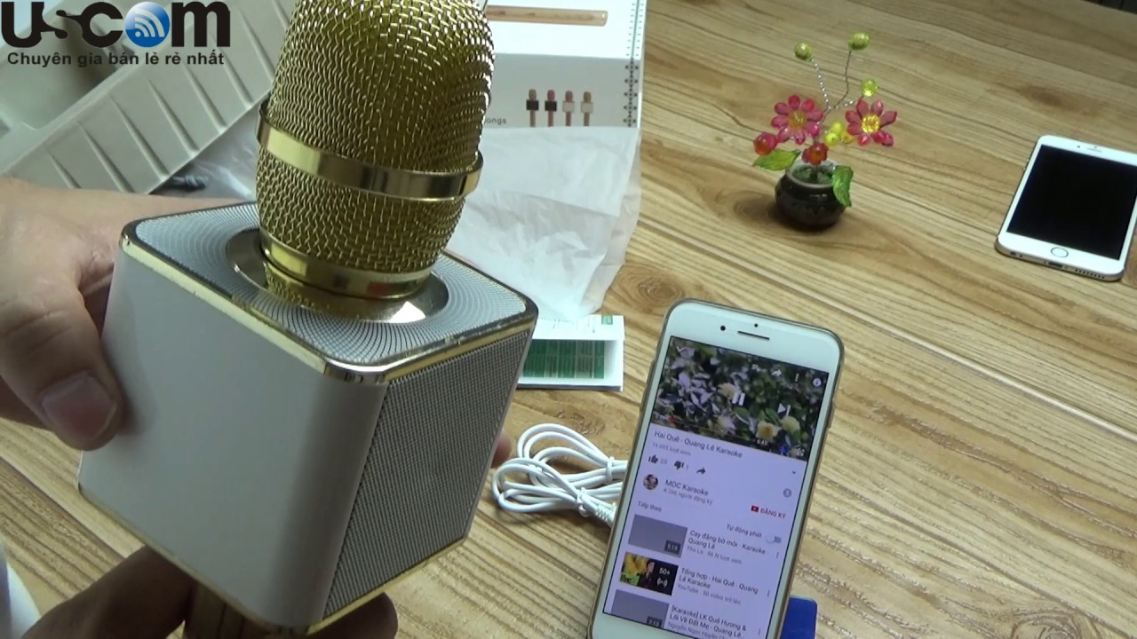 Đập hộp trên tay hat thử mic karaoke YS 11 thần thánh