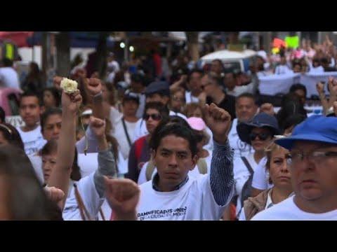 A un año del sismo en México damnificados piden reconstrucción