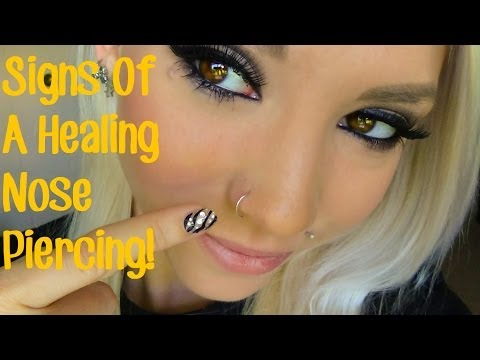 Signs Of A Healing Nose Piercing Youtube