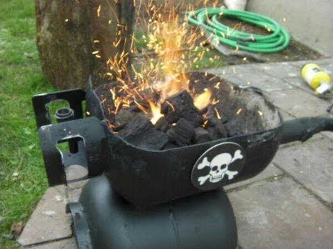 how to make a forge out of a propane tank