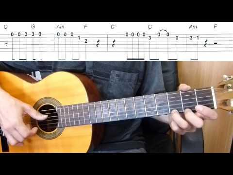 Bob Marley - No Woman No Cry - melody - Easy Guitar melody ...
