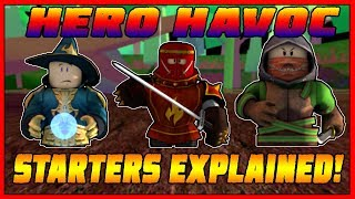 HERO HAVOC - STARTERS GUIDE [ WHICH ONE WILL YOU PICK?] Roblox
