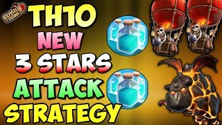 GOBOLALOON + CLONE SPELL | Th10 New 3 STARS War Attack Strategy | Clash Of Clans