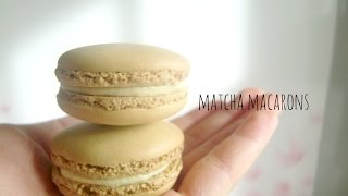 How To Make Matcha Green Tea Macarons (italian Meringue Method) 녹차 마카롱