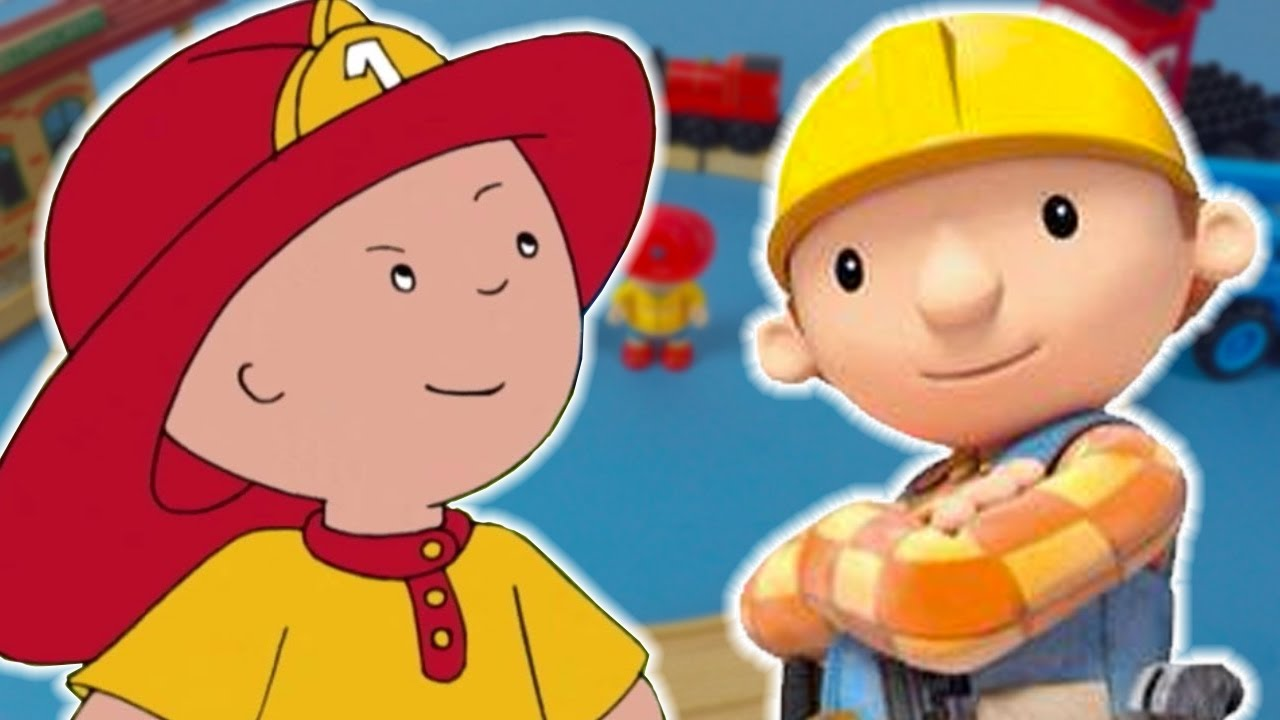 TOY PLAY - Caillou, Bob The Builder and Lofty Help Build Train Track | Toy Store - Toys For Kids!