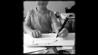 Обучение рисованию детей. Гоша ребенок учит рисовать.