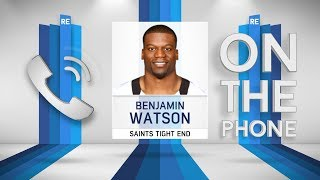 Saints TE Benjamin Watson Talks Int