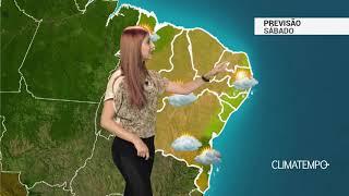 Previsão Nordeste - Pouca chuva neste sábado