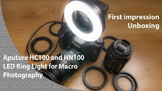 Aputure HC100 and HN100 LED Ring light - First impressions