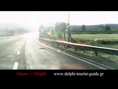 Athens to Delphi route by car (parts 1,2,3)