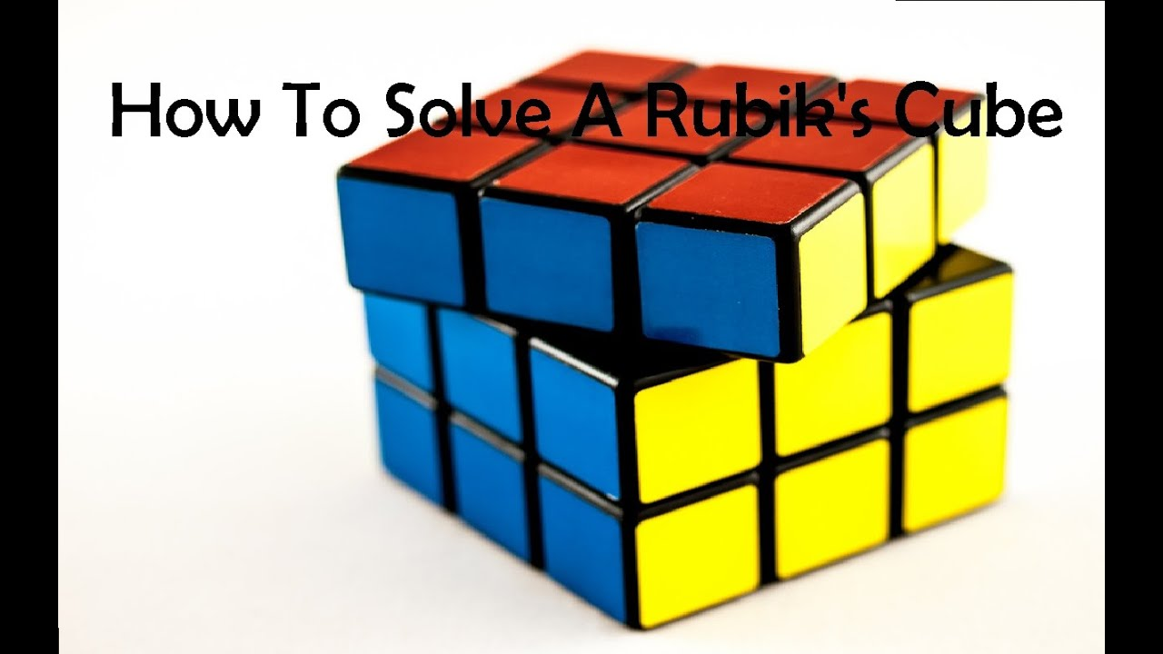 How To Solve A Rubik's Cube  Easy Step By Step Guide