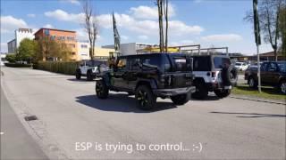 Jeep Wrangler Hellcat by allradpauli first test drive on 14PSI