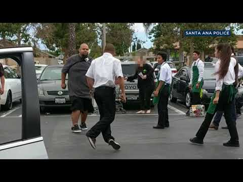 VIDEO: Santa Ana Stater Bros. Robbery Suspect Punched To Ground I ABC7
