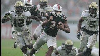 Miami Hurricanes Highlights VS Georgia Tech