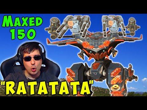 NEW Machinegun AO MING MAXED Titan Live Gameplay - War Robots 5.6 WR