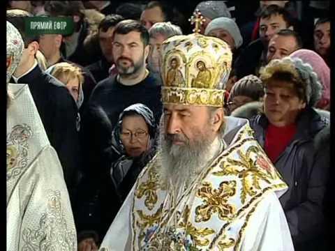 Рождественская литургия в Киево-Печерской Лавре (7.01.2016)