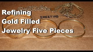 Refining Gold Filled Jewelry Five Pieces