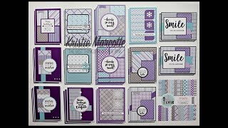 Pink & Main Frosty collection - 36 cards from one 6x6 paper pad