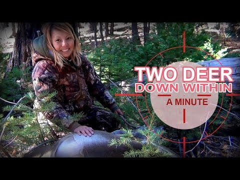 GIRL HUNTS - Two deer down within a minute