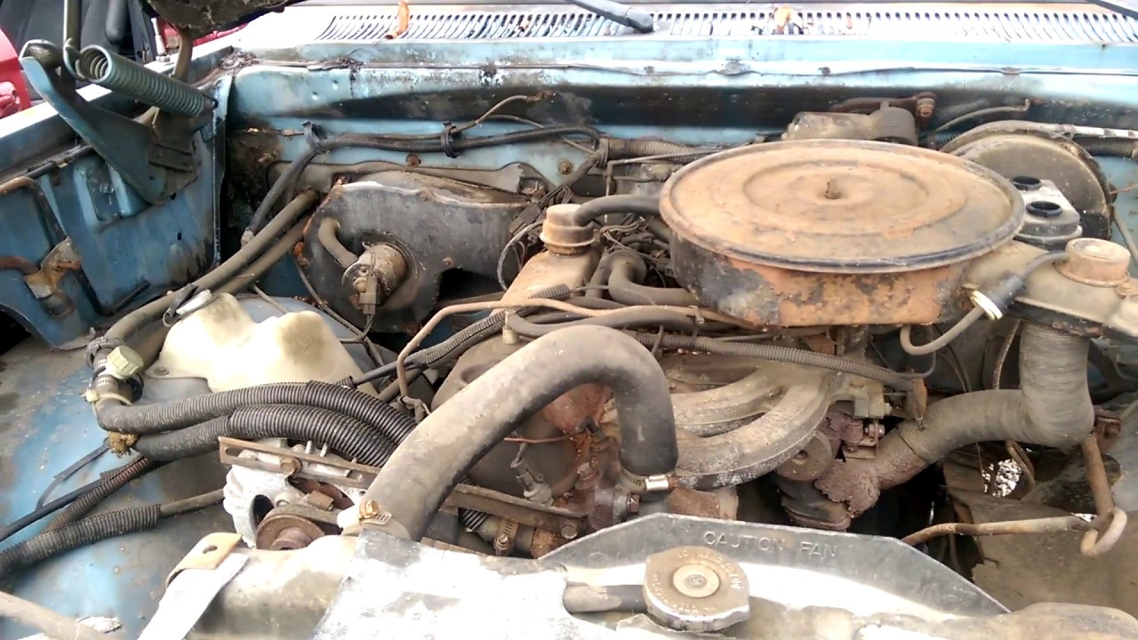 1985 Dodge Ram 150 at the junk yard