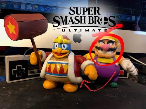 Making king Dedede out of Wario! (CUSTOM!!) World of nintendo toys wario action figure kirby