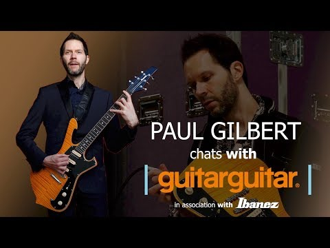 guitarguitar Interview with Paul Gilbert at The Caves, Edinburgh