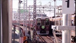 阪急千里線 柴島駅を1300系準急天下茶屋行きが通過