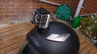 Attaching a New Go Pro Style Camera to My Motorbike Helmet