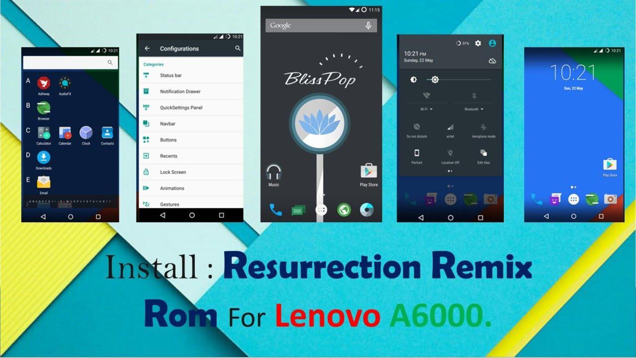 Lenovo A6010 Kebagian Rom Resurrection Remix 8 – Wonderful