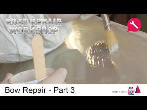 Finish Gel - Bow Repair - Fiberglass GRP Damage Part 3 - Boat Repair Workshop - How to