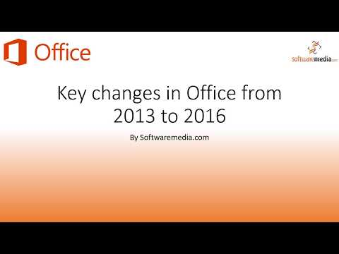 Key Differences Between Office 2013 and Office 2016