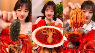 Eat octopus, holothurian  - SPICY FOOD COMPILATION - mukbang [06]