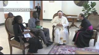 Pope thanks Sudanese woman who faced the death penalty for being Christian