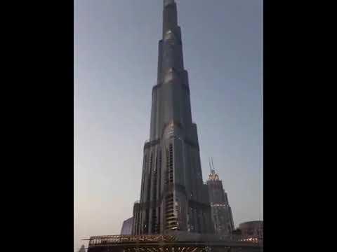 Burj Khalifa s fountain after Corona lockdown 2020 with Muhammad Rayyan