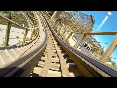 Gold Striker Roller Coaster POV California Great America
