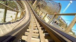 Gold Striker Roller Coaster POV California Great America