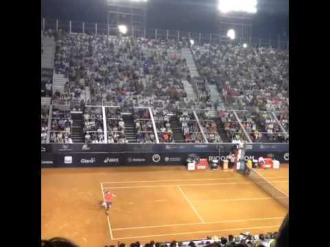 Minhas experiencias no tenis !:Rio Open 2015 David Ferrer vs Fabio Fognini match point