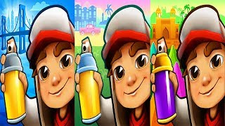 Subway Surfers NEW YORK vs HAVANA vs MUMBAI - Android Gameplay For Children HD